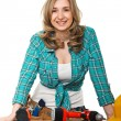 Constructor woman — Stock Photo
