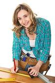 žena carpenter — Stock fotografie