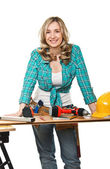 Smiling woman at work — Stock Photo