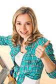 Woman at work — Stock Photo