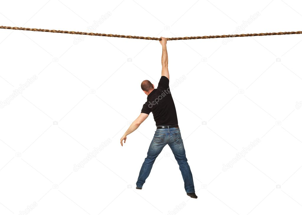 Man on rope — Stock Photo © jukai5 #5658595
