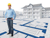 Smiling architect — Stock Photo
