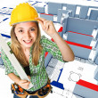 Make an house — Stock Photo