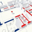 Stockfoto: 3d blueprint