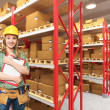 Worker in warehouse — Stock Photo #5861909
