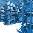 Warehouse 3d — Stock Photo