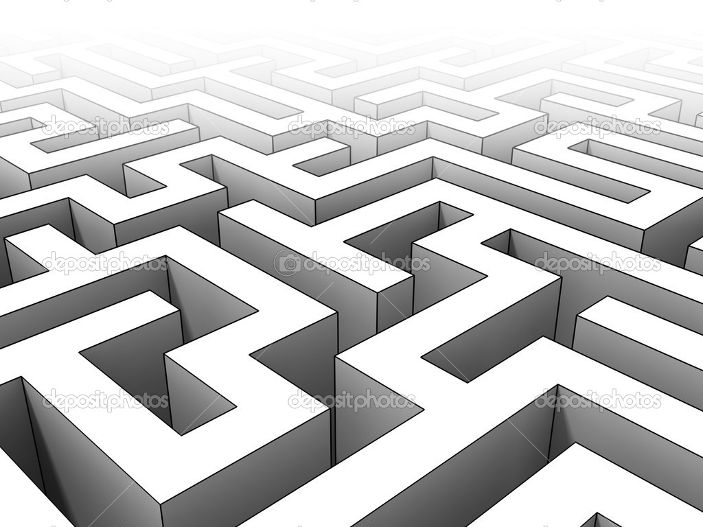 Stock Photo 3d Maze on File Maze Type Standard