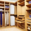 Stock Photo: Wood closet