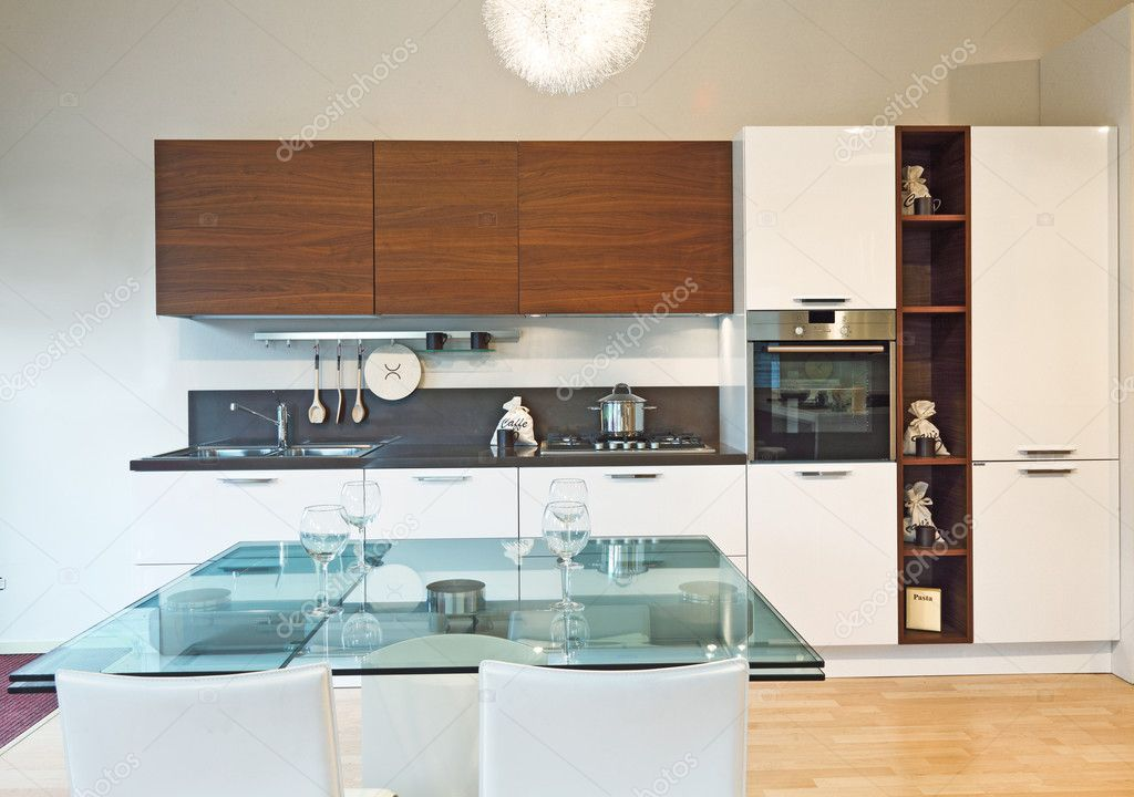 Fine image of modern kitchen background  Stock Photo #5935442