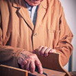 Senior carpenter - Stock Photo