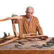 Senior carpenter — Stock Photo #5992549