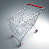 Supermarket trolley — Stock Photo