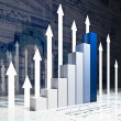 Financial graph chart — Stock Photo #6095347