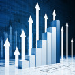 Grow business chart — Stock Photo