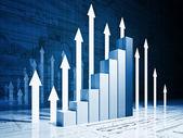 Grow business chart — Stock Photo