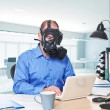 Post atomic worker — Stock Photo