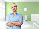 Confident worker in office — Stock Photo