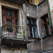 Old grunge house in lodz centre town — Stock Photo
