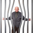 Foto Stock: Old man in prison