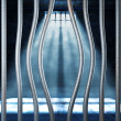 Royalty-Free Stock Photo: Prison 3d and bended metal bar