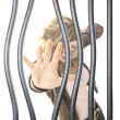 Woman in prison - Stock Photo