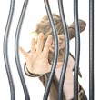 Woman in prison — Stock Photo
