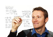 Man write maths formula — Stock Photo