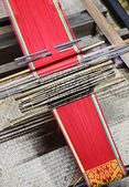Traditional malaysian loom — Stock Photo