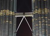 Petronas tower bridge detail — Stock Photo
