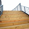 Stock Photo: Wooden Staircase to the Sky