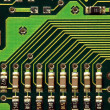 Macro Image of a Computer Motherboard - Stock Photo