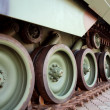 Stock Photo: Continuous Tracks of Army Tank