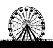 Outline of a Small Ferris Wheel — Stock Photo
