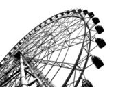 Outline of a Large Ferris Wheel — Stock Photo