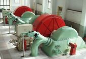Vintage turbines en generatoren — Stockfoto