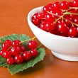 Red currant in ceramic bowl — Stock Photo #6035253