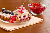Muffins with berries — Stock Photo