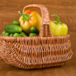 Fresh vegetables in basket — Stock Photo #6450395