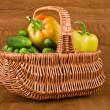 Fresh vegetables in basket — Stock Photo #6450395
