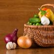 Fresh vegetables in basket — Stock Photo #6463848