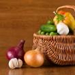 Fresh vegetables in basket — Stock Photo #6463848