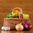 Fresh vegetables in basket — Stock Photo #6463861