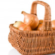 Royalty-Free Stock Photo: Fresh onions in basket