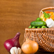 Fresh vegetables in basket — Stock Photo #6550633