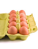 Dez ovos no pacote — Fotografia Stock