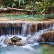 Beautiful waterfall cascades - Stock Photo