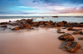 Sunset beach at newcastle — Stock Photo