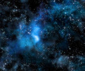 Starry deep outer space nebula and galaxy — Stock Photo