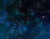 Outer space with blue nebula clouds — Stock Photo