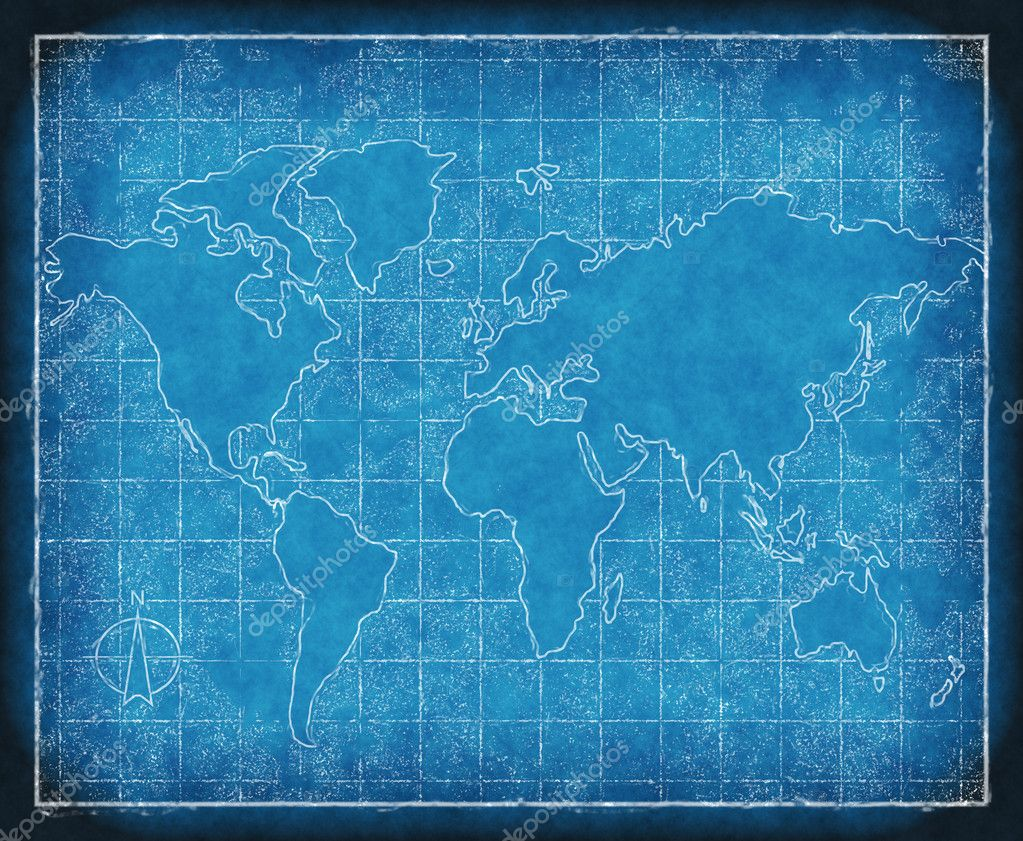 Map of the world blueprint stock photo clearviewstock for Where to buy blueprint paper